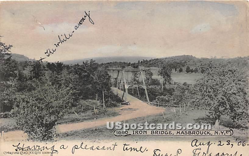 Iron Bridge - Hasbrouck, New York NY Postcard