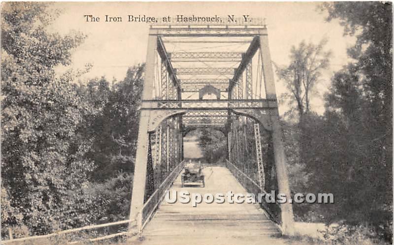 The Iron Bridge - Hasbrouck, New York NY Postcard