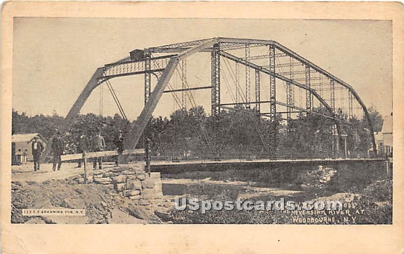 New Bridge across The Neversink River - Hasbrouck, New York NY Postcard