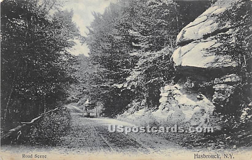 Road Scene - Hasbrouck, New York NY Postcard