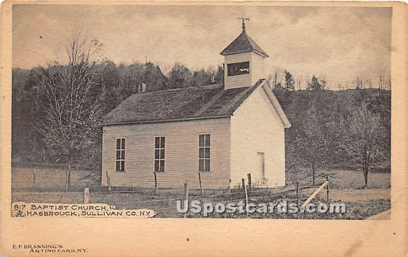 Baptist Church - Hasbrouck, New York NY Postcard