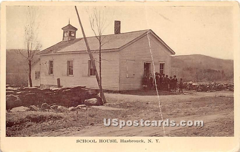 School House - Hasbrouck, New York NY Postcard