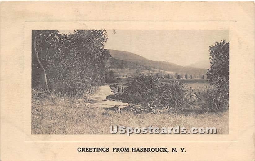 Greetings from - Hasbrouck, New York NY Postcard