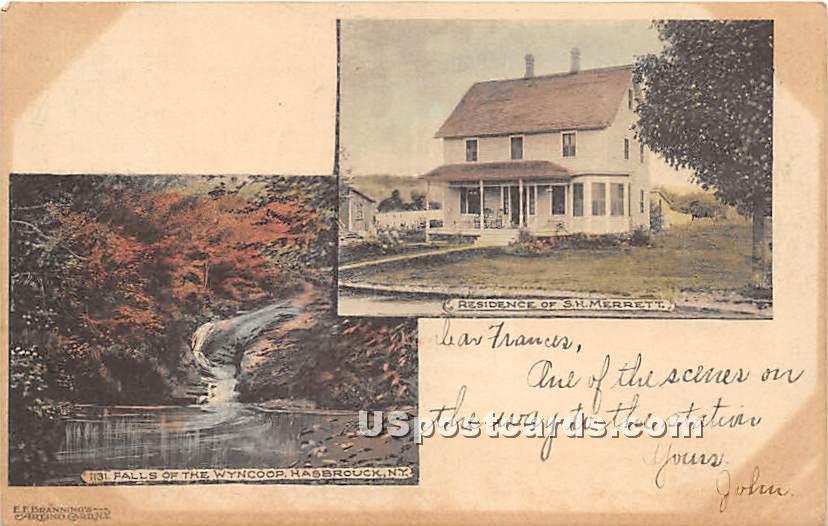 Residence of S H Merrett - Hasbrouck, New York NY Postcard