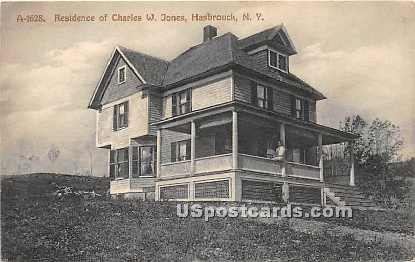 Residence of Charles W Jones - Hasbrouck, New York NY Postcard