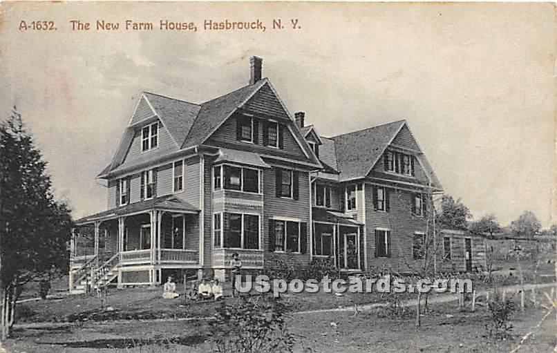 The New Farm House - Hasbrouck, New York NY Postcard