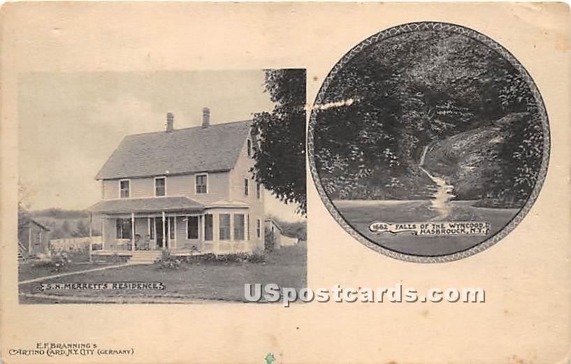 S H Merrett's Residence - Hasbrouck, New York NY Postcard