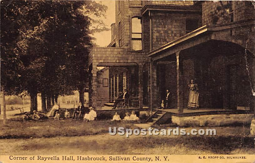 Corner of Rayvella Hall - Hasbrouck, New York NY Postcard