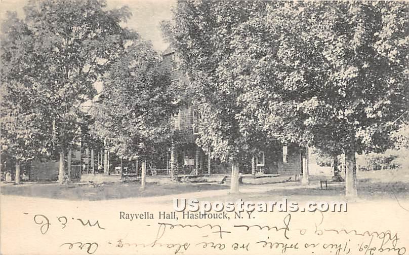 Rayvella Hall - Hasbrouck, New York NY Postcard