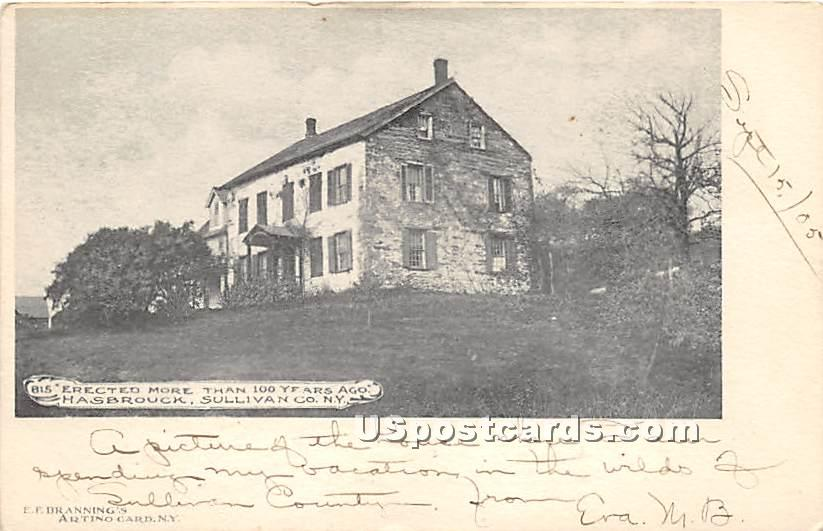 Erected More than 100 Years Ago - Hasbrouck, New York NY Postcard
