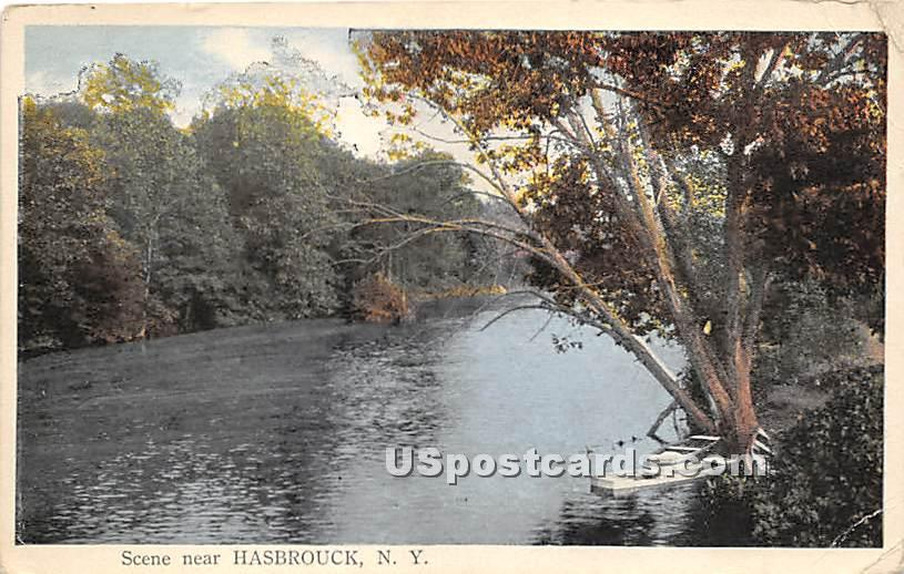 Water Scene - Hasbrouck, New York NY Postcard