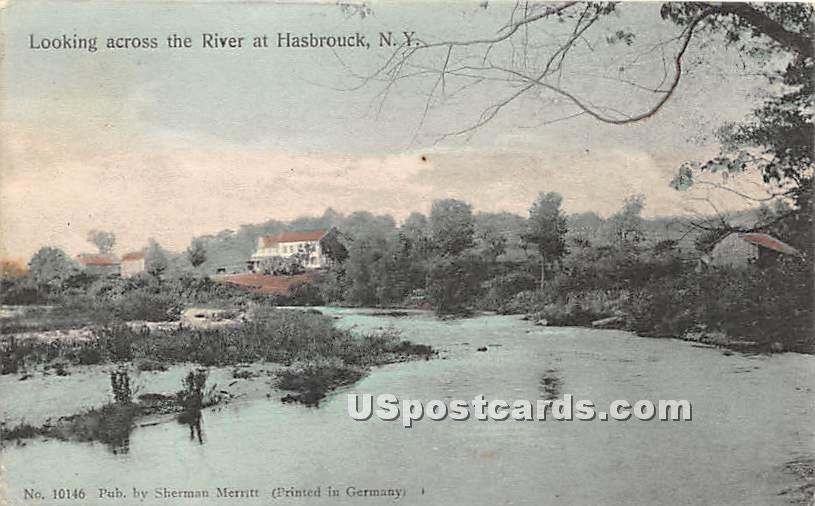 Looking Across the River - Hasbrouck, New York NY Postcard