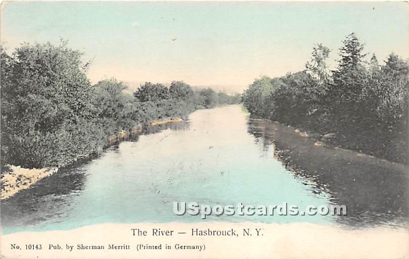 The River - Hasbrouck, New York NY Postcard