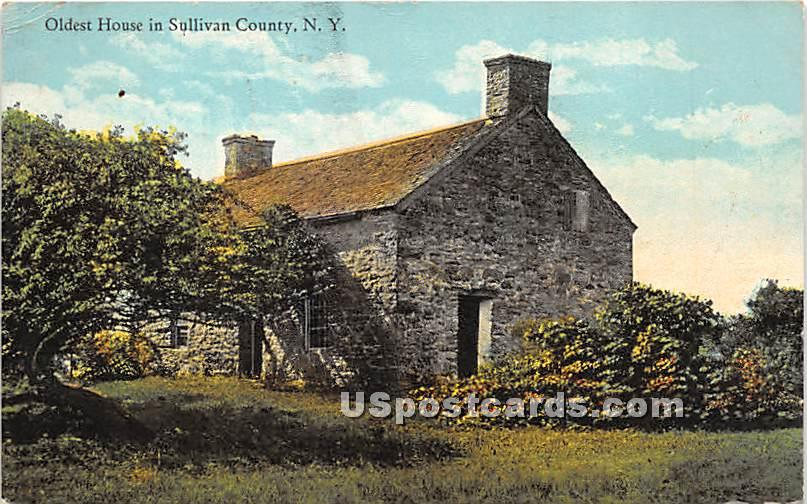 Oldest House - Hasbrouck, New York NY Postcard