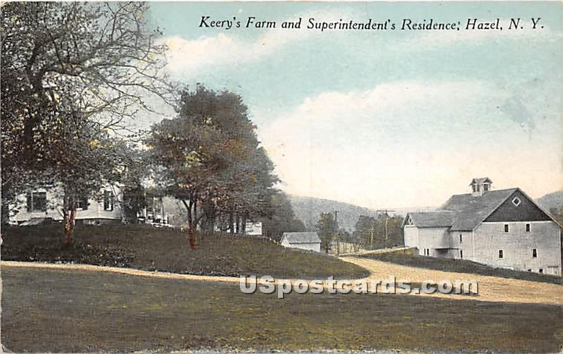Kerry's Farm and Superintendent's Residence - Hazel, New York NY Postcard