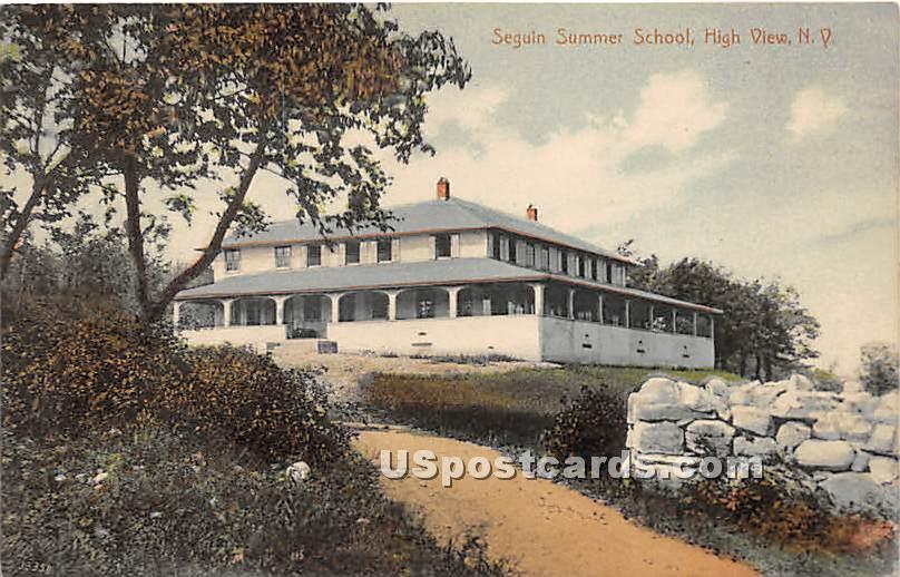 Segui Summer School - High View, New York NY Postcard