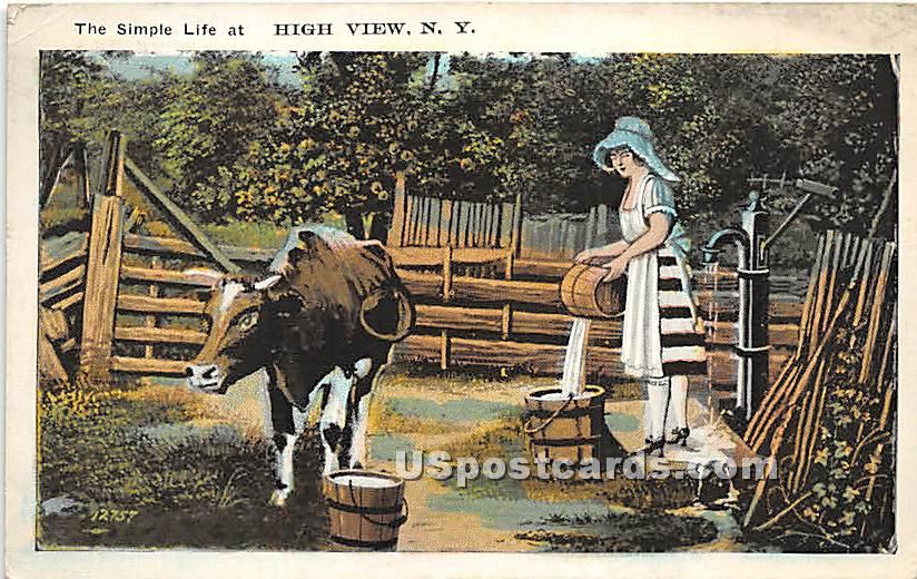The Simple Life - High View, New York NY Postcard