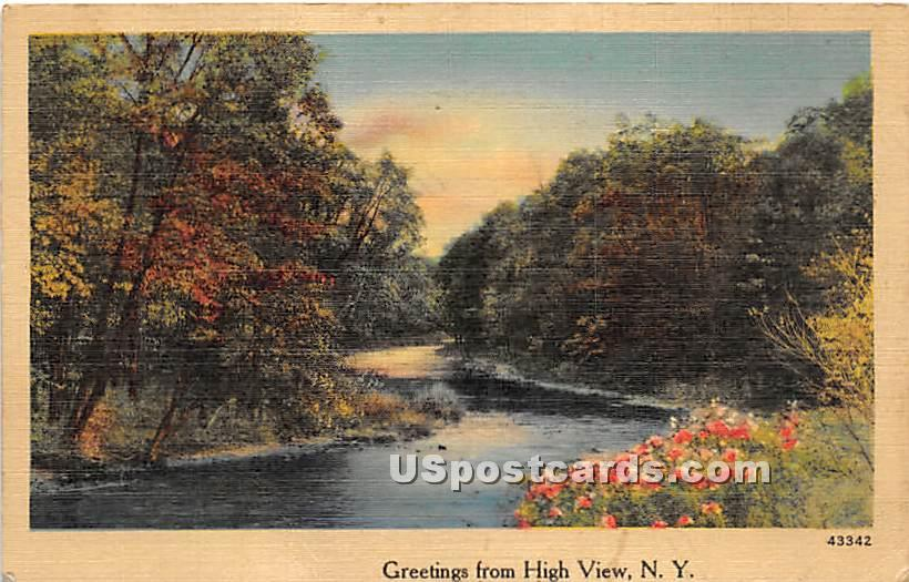 Greetings from - High View, New York NY Postcard