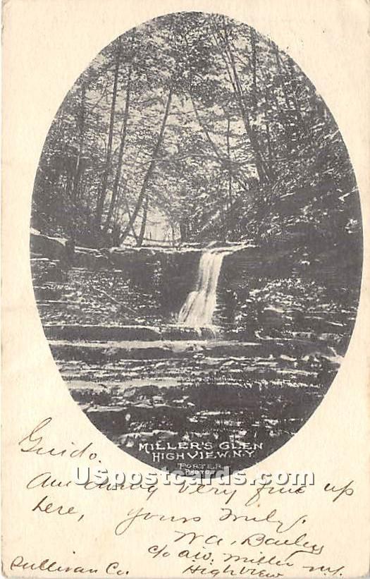 Miller's Glen - High View, New York NY Postcard