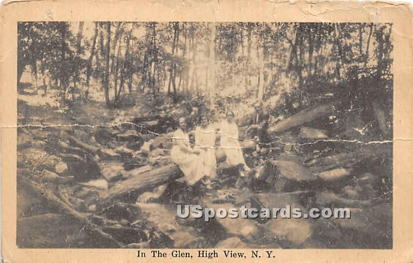 In The Glen - High View, New York NY Postcard