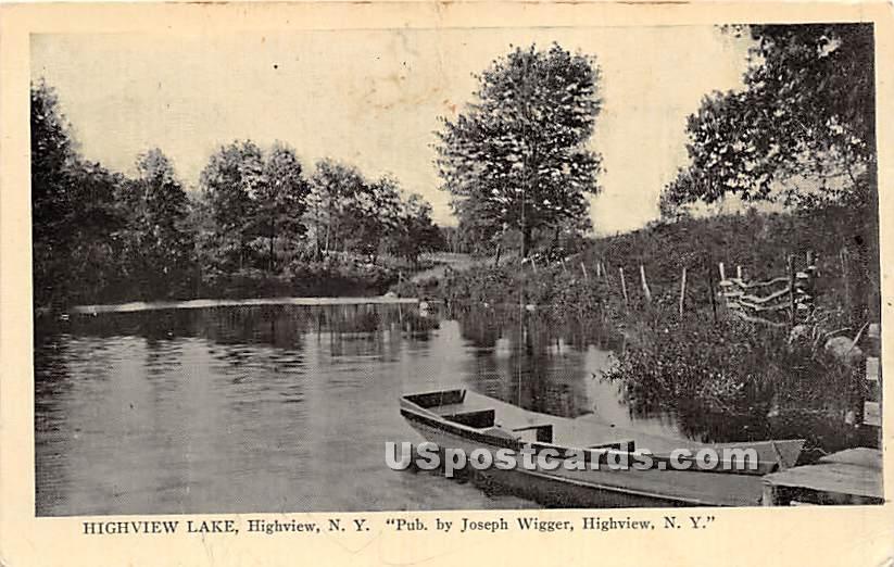 Highview Lake - High View, New York NY Postcard