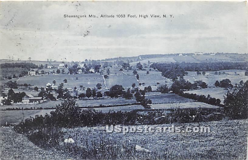 Shawangunk Mountains - High View, New York NY Postcard