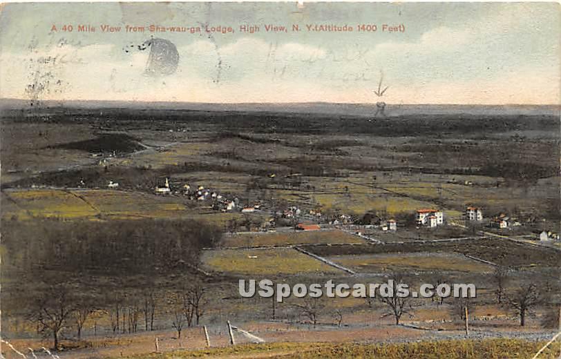 Shawauga Lodge - High View, New York NY Postcard