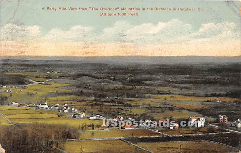 The Overlook Mountain in Distance - High View, New York NY Postcard