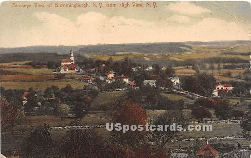 Birds Eye View - High View, New York NY Postcard
