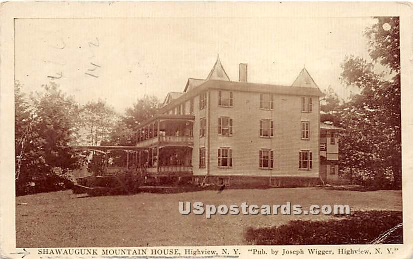 Shawaugunk Mountain House - High View, New York NY Postcard