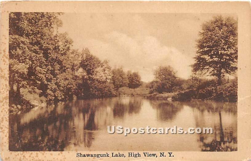 Shawangunk Lake - High View, New York NY Postcard