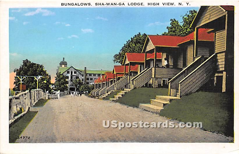 Bungalows - High View, New York NY Postcard