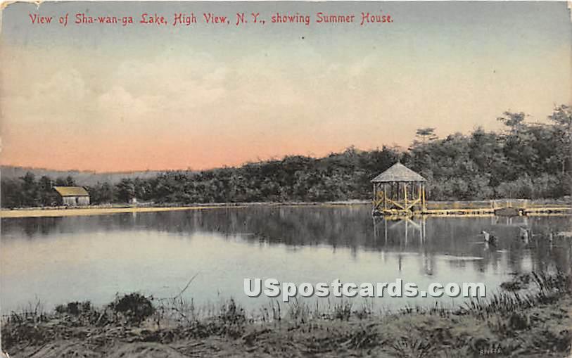 Shawanga Lake - High View, New York NY Postcard