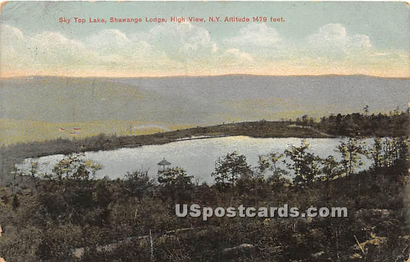 Sky Top Lake - High View, New York NY Postcard