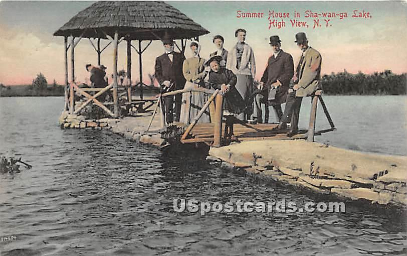 Summer House in Shawanga Lake - High View, New York NY Postcard