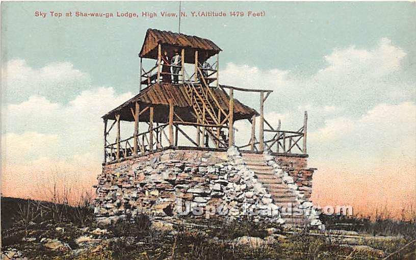Sky Top at Shawauga Lodge - High View, New York NY Postcard