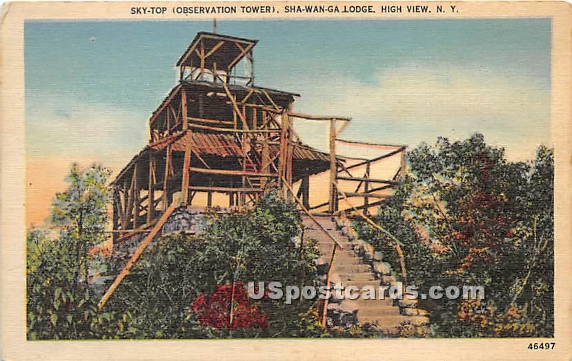 Sky Top Observatino Tower - High View, New York NY Postcard
