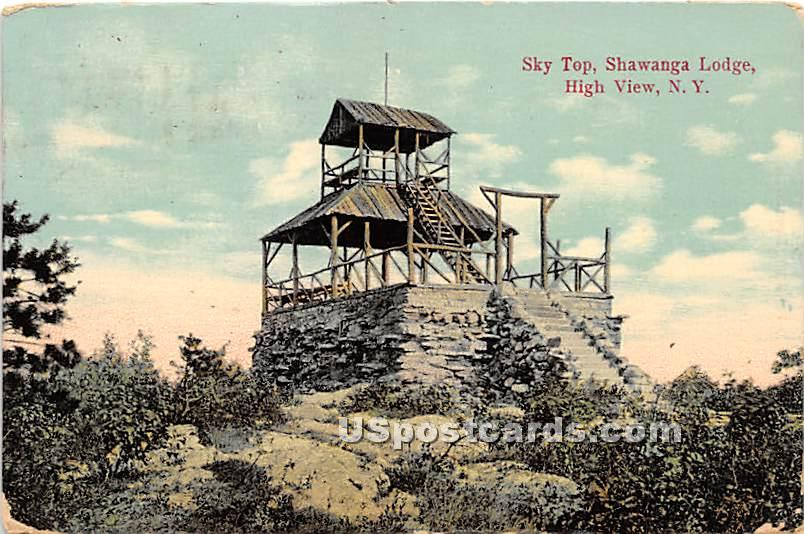Sky Top - High View, New York NY Postcard