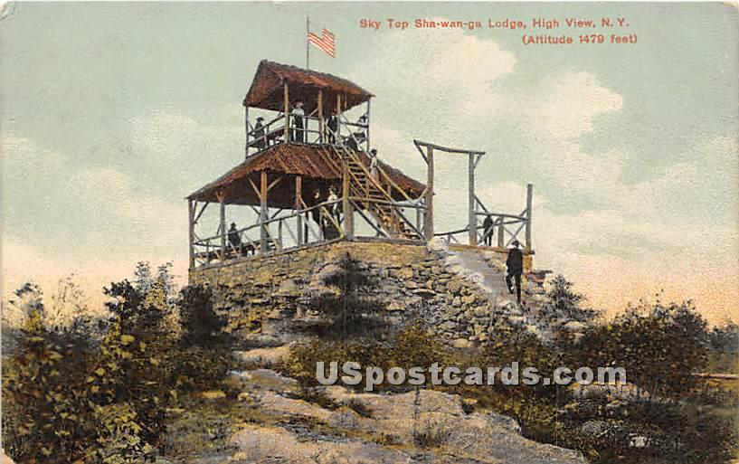Sky Top at Shawanga Lodge - High View, New York NY Postcard