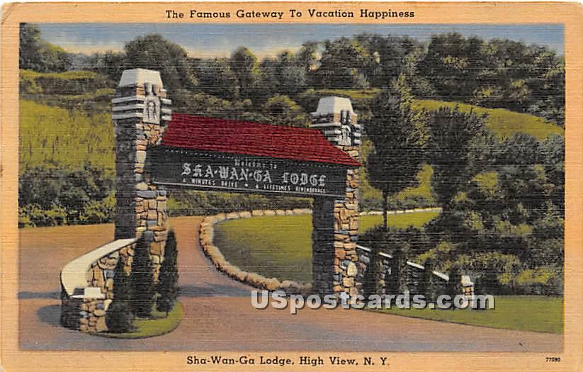 Famous Gateway - High View, New York NY Postcard