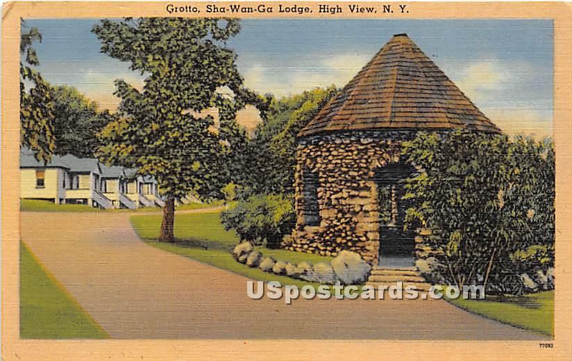 Grotto, Shawanga Lodge - High View, New York NY Postcard