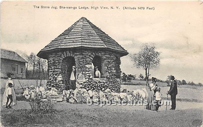 Stone Jug, Shawanga Lodge - High View, New York NY Postcard