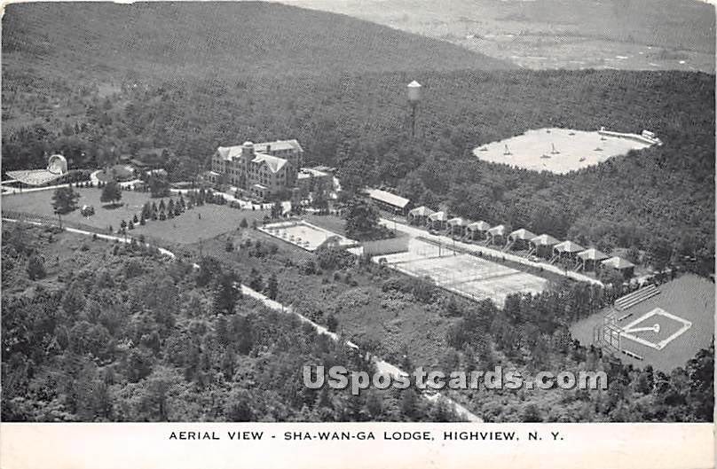 Aerial View - High View, New York NY Postcard