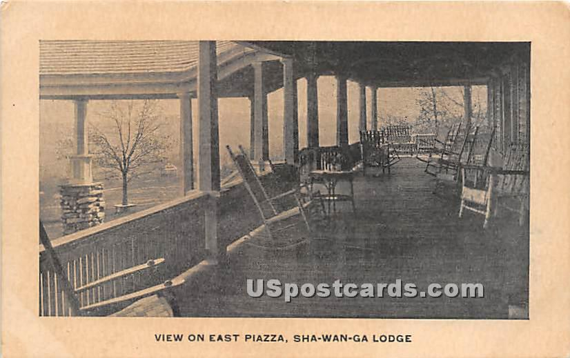 View on East Piazza - High View, New York NY Postcard