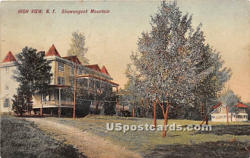 Shawangunk Mountain - High View, New York NY Postcard