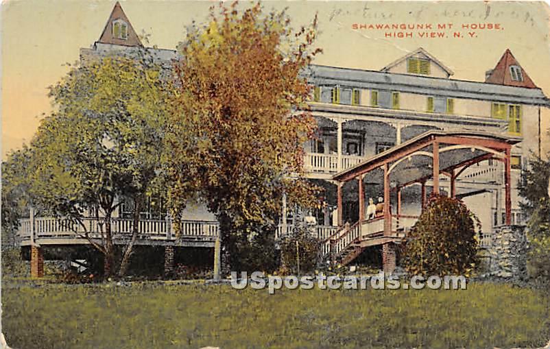 Shawangunk Mountain House - High View, New York NY Postcard