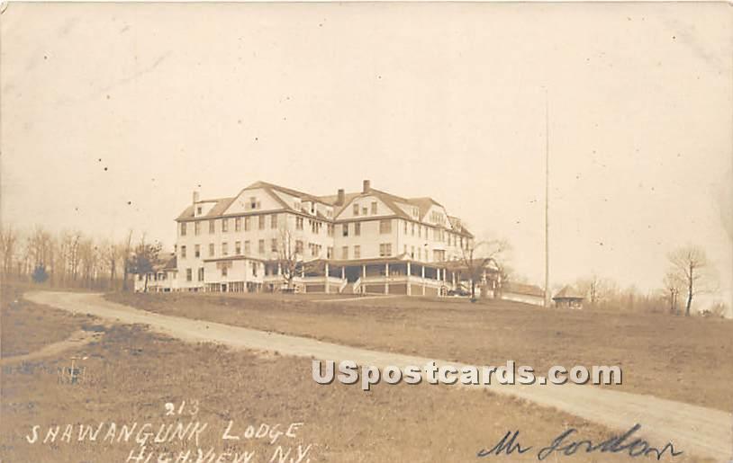 Shawangunk Lodge - High View, New York NY Postcard