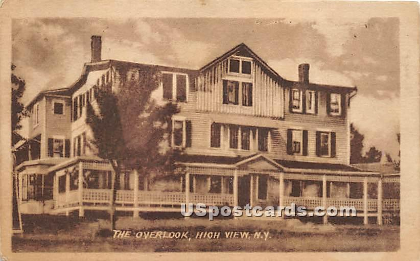 The Overlook - High View, New York NY Postcard