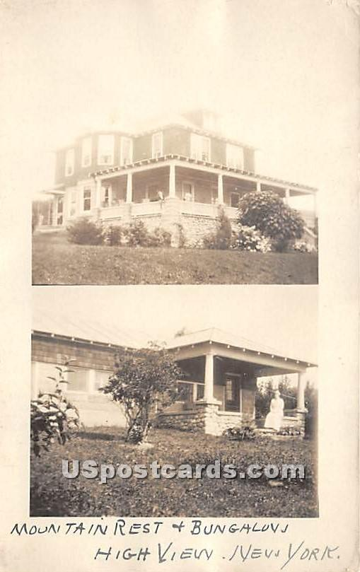 Mountain Rest and Bungalow - High View, New York NY Postcard
