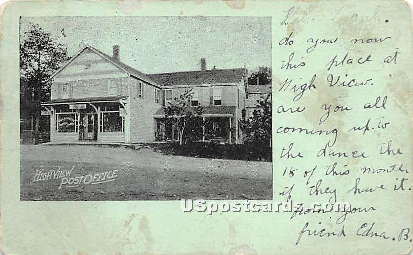 High View Post Office - New York NY Postcard